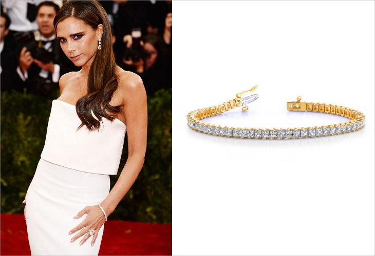 classic princess prong set diamond tennis bracelet