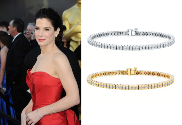 14k gold 15ct tdw diamond tennis bracelet