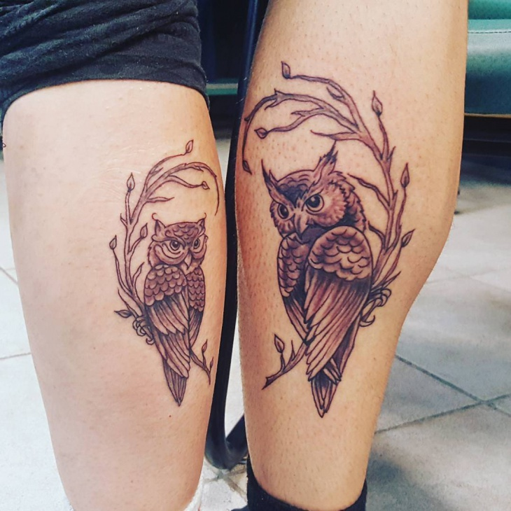 Tattoo on Leg For Couples