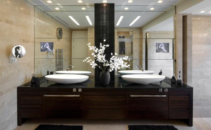 solid wood bathroom countertop