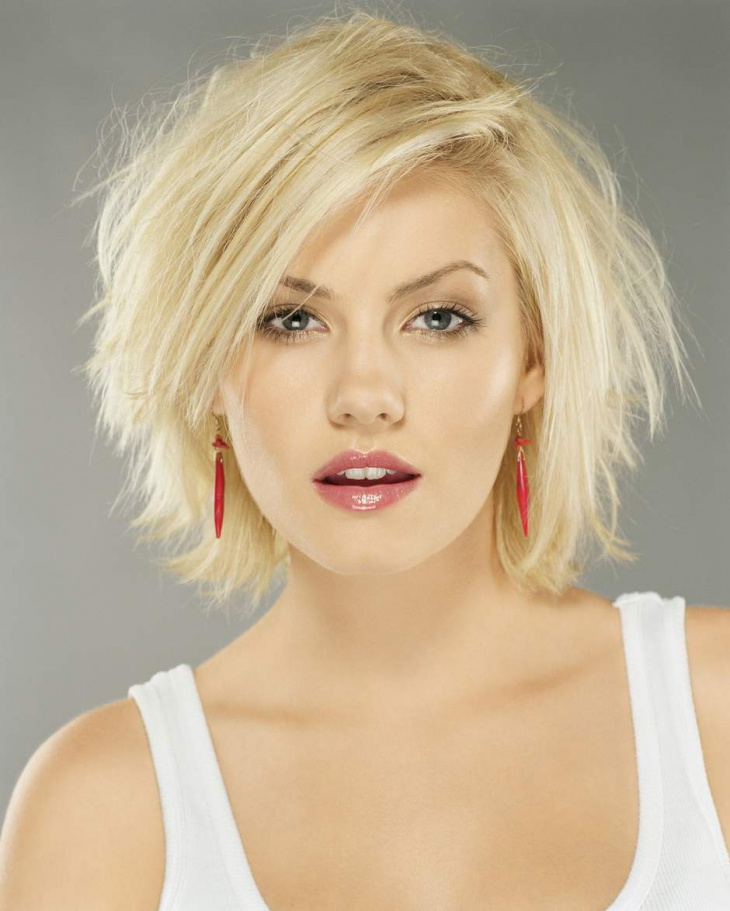elisha cuthbert medium length choppy hairstyle