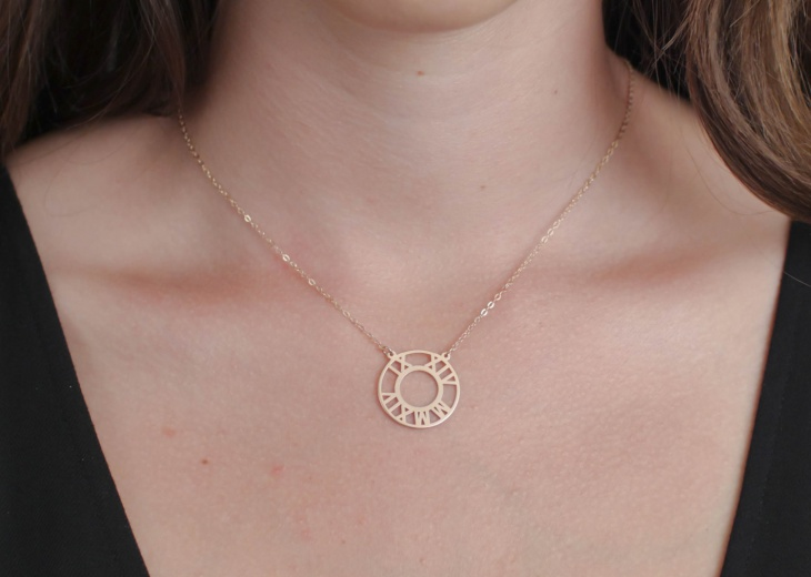 monogram initial statement necklace