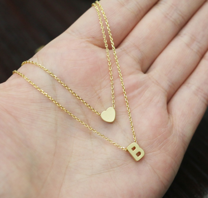 15  initial necklace designs  ideas