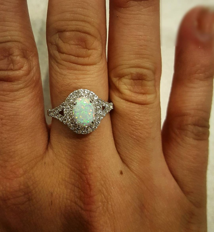 opal crystal promise ring