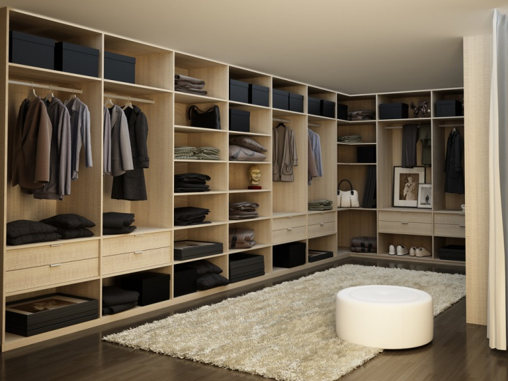 modern walk in closet cabinets idea