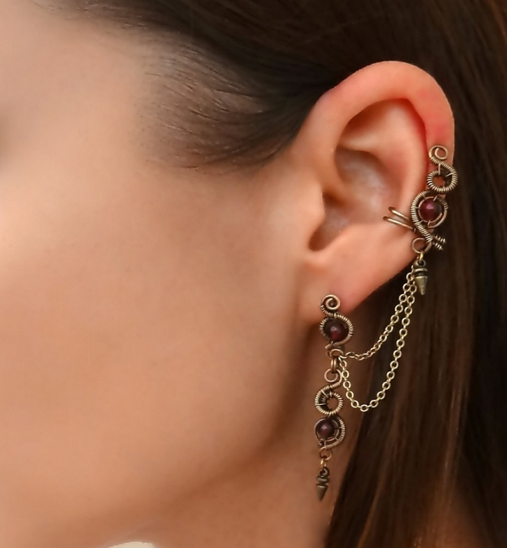 dangle gothic cartilage earrings