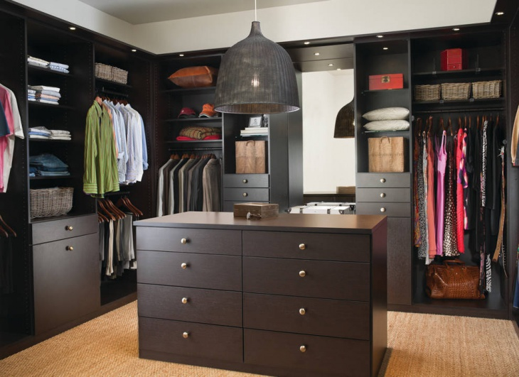 modern contemporary walk in closet