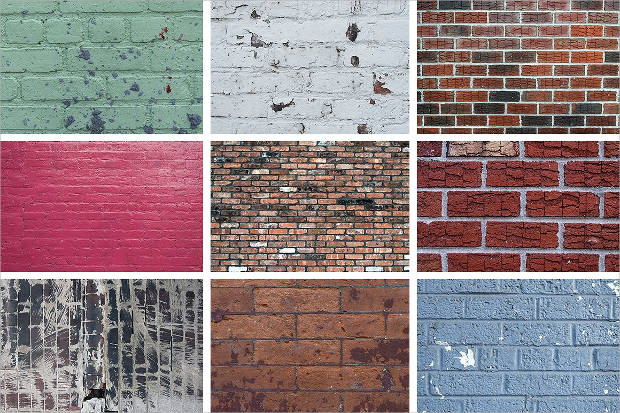 Colored Brick Wall Textures