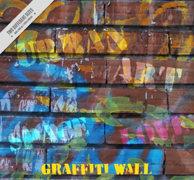 Free Graffiti Painted Wall Texture