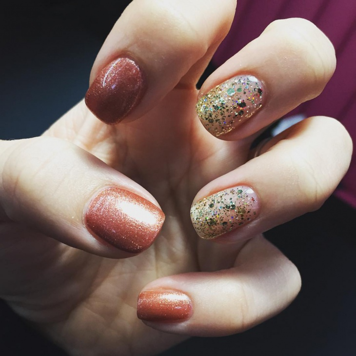 shellac glitter nails for women