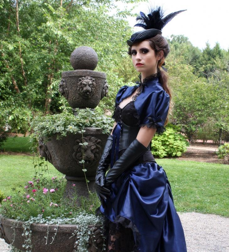 Black victorian wedding dresses