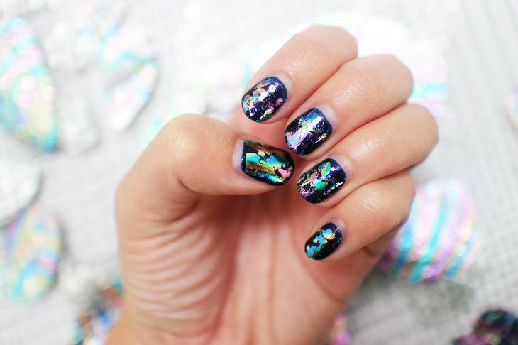 oil spill nails