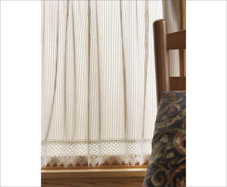 chelsea white lace curtain panel