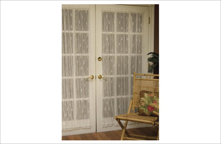heritage lace pineapple single curtain panel