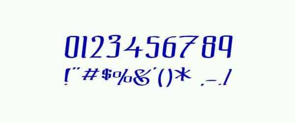 the black bloc numeric font1