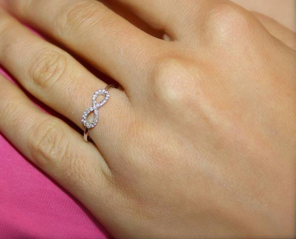 infinity gold engagement ring for women