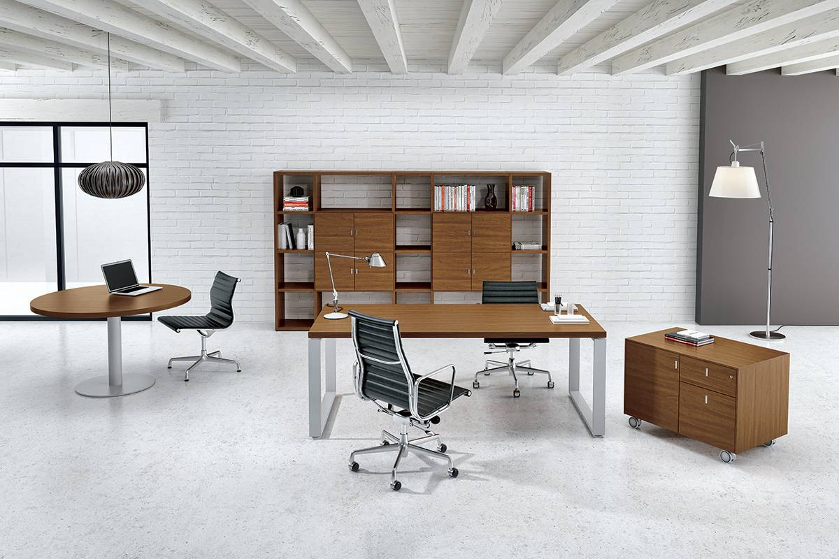 modern wooden office desk design