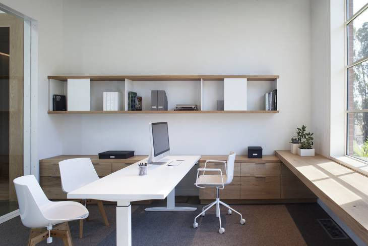 Small White Modern Office Furniture