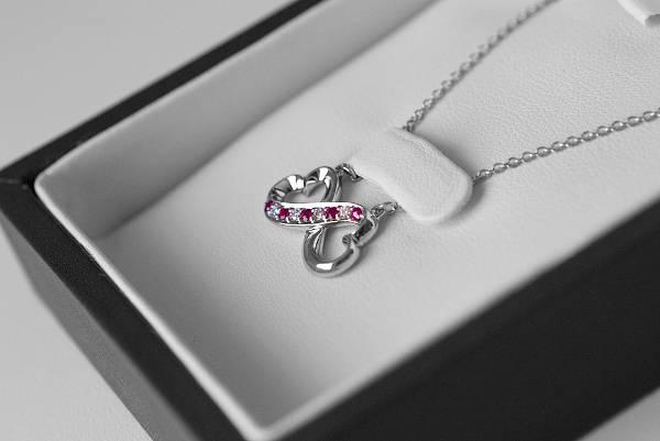 Diamond Infinity Heart Necklace