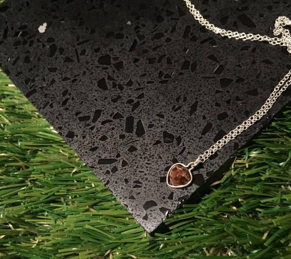 gemstone chocolate diamond necklace