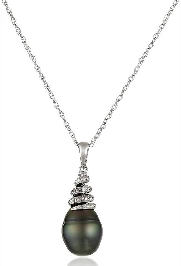 Black Diamond Pearl Necklace