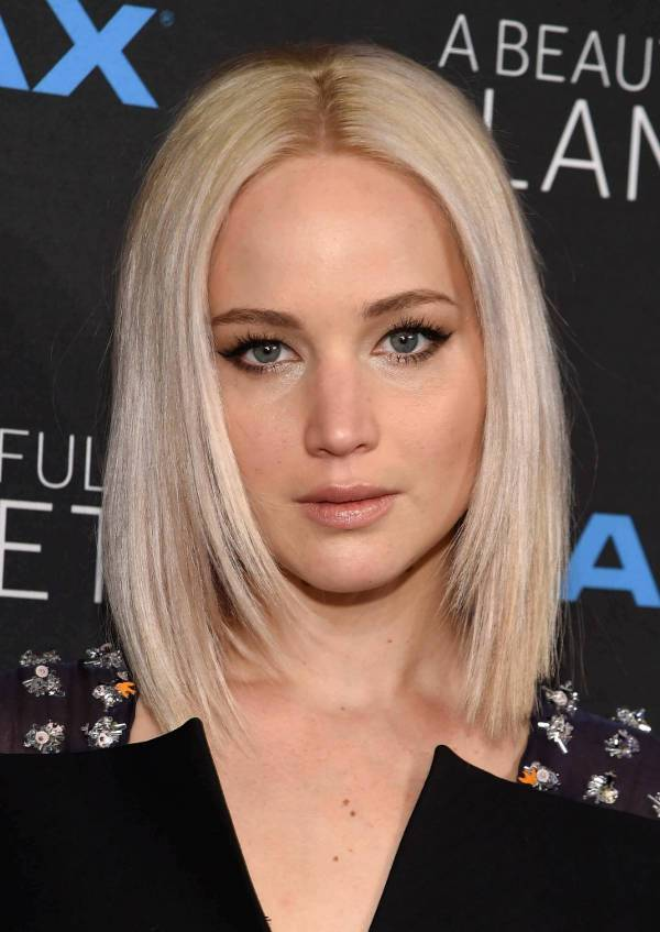 Jennifer Lawrence Long Asymmetrical Bob