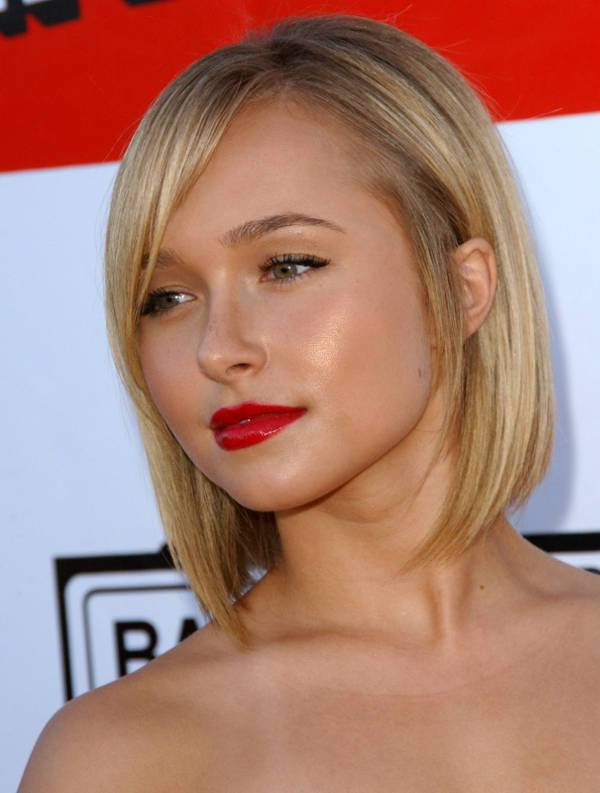 Hayden Panettiere Inverted Asymmetrical Bob Haircut