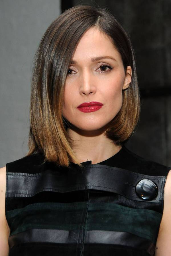 Rose Byrne Asymmetric A Line Bob Haircut