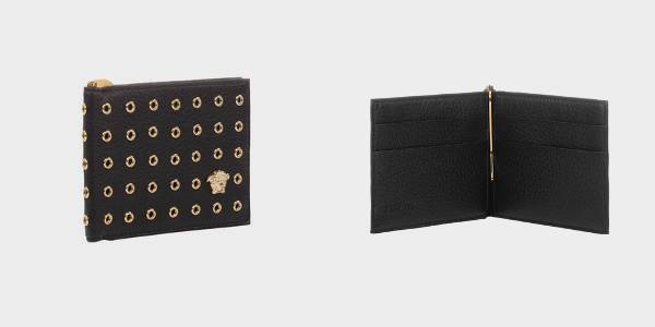 Versace Studded Money Clip Wallet