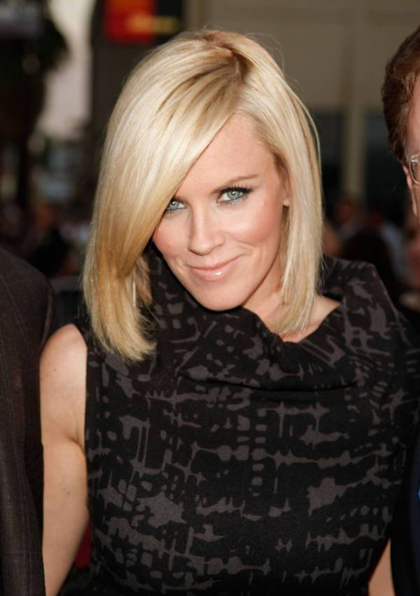 Jenny McCarthy Asymmetrical Stacked Bob Haircut