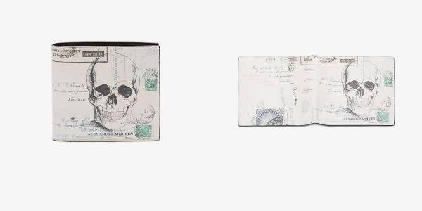 "Alexander McQueen ""Letters From India"" Print Billfold Wallet"