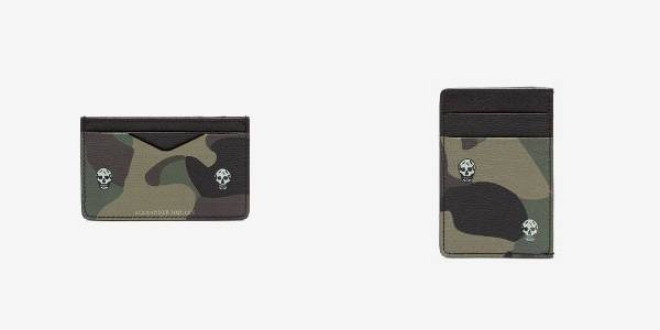 Alexander McQueen Skull Camouflage Printed Card Holder