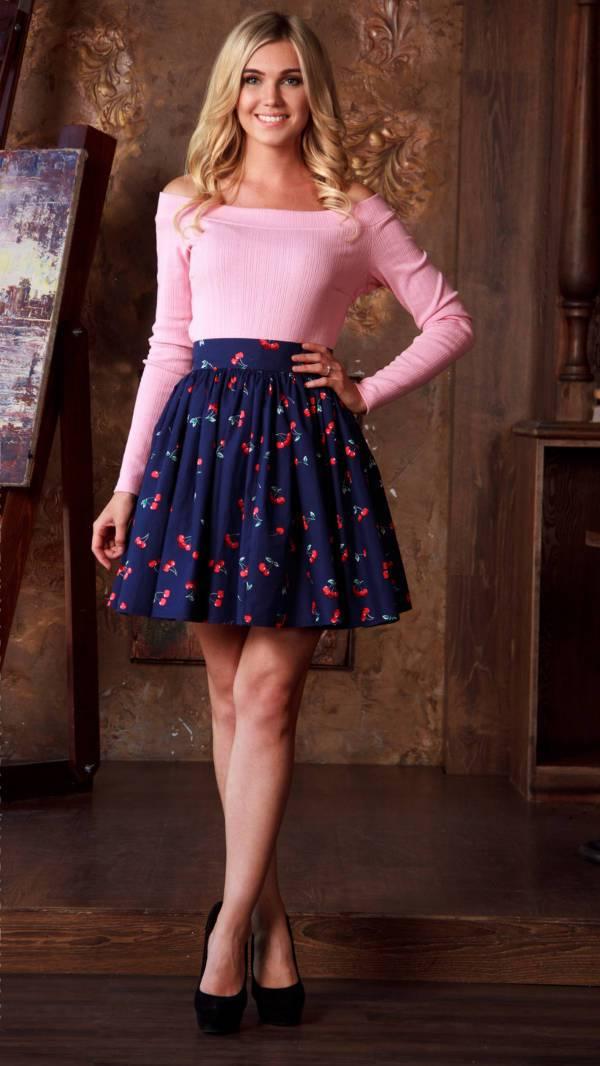 floral skater casual skirt