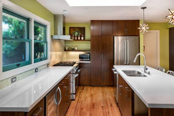 modern wood kitchen storage cabinets