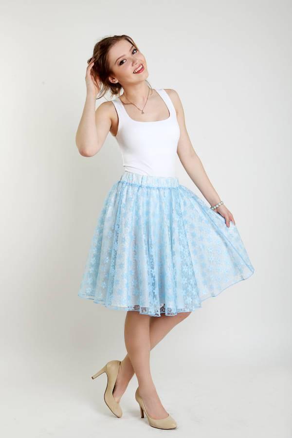 midi skater lace skirt