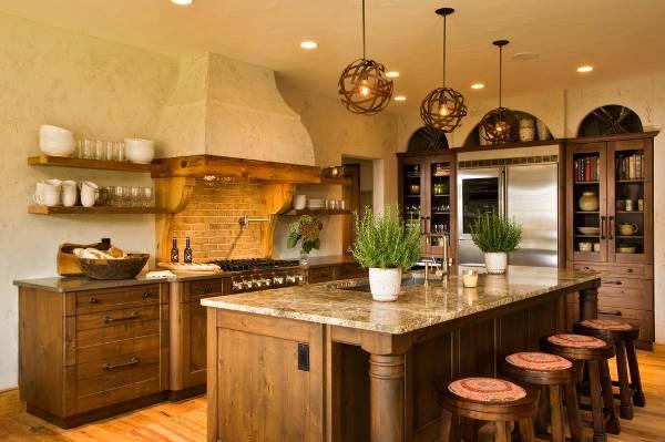 rustic wood kitchen storage cabinets