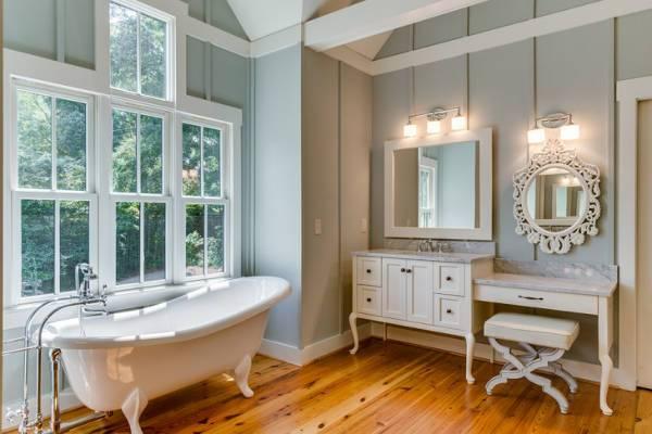 bathroom white vanity mirror design