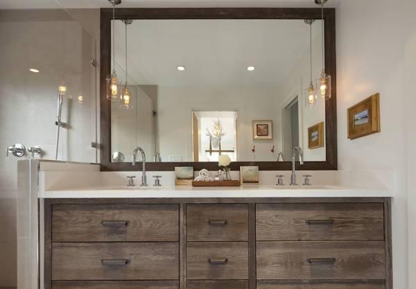 rustic wood bathroom mirror1