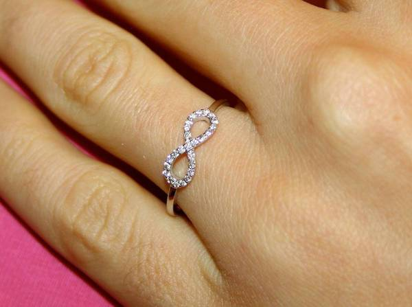 Infinity Wedding Gold Ring For Women