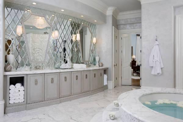 awesome master bathroom mirror design