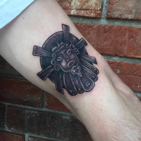 Aztec Sun Black Tattoo