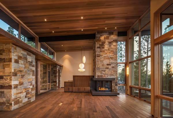 simple corner gas fireplace