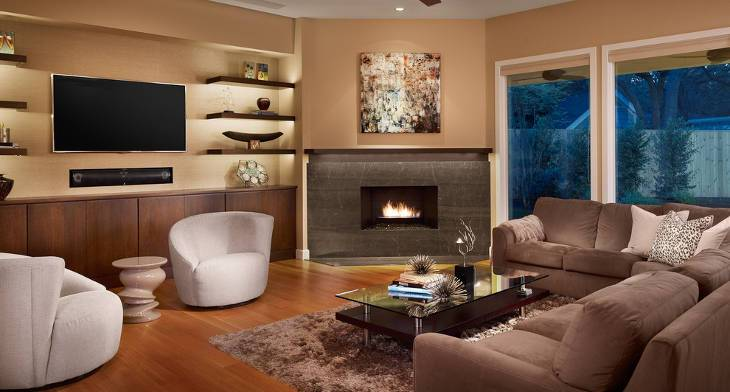 15+ Corner Fireplace Designs, Ideas | Design Trends - Premium PSD ...