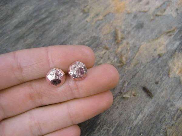 handmade rose gold stud earrings
