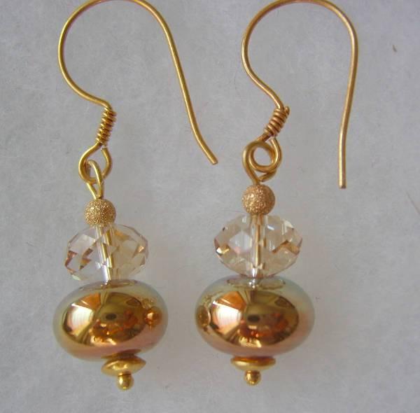 vintage rose gold chandelier earrings