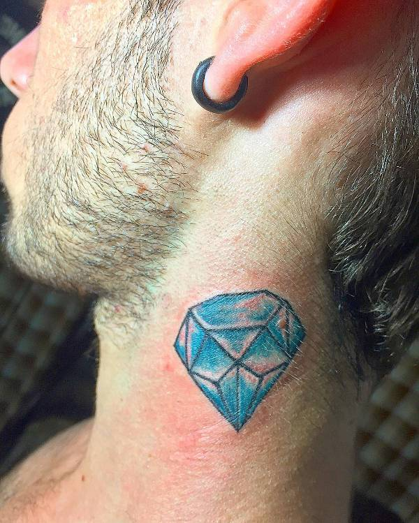 Diamond Neck Tattoo For Men