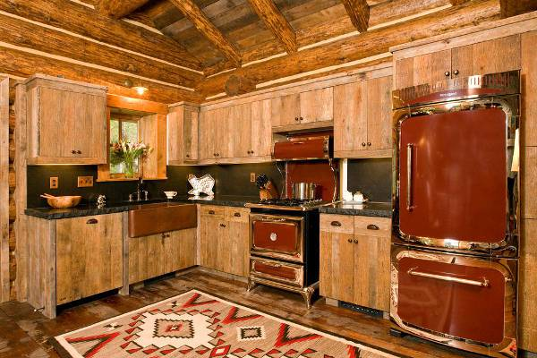 rustic wood kitchen furniture