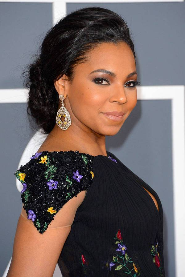 Ashanti Braided Low Bun Hairstyle