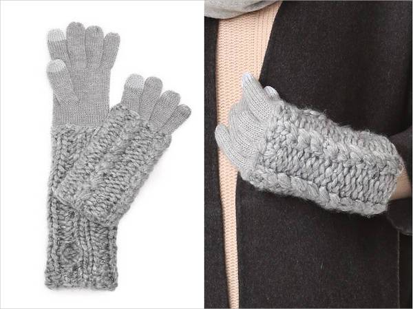 rebecca minkoff hand knit cable texting gloves