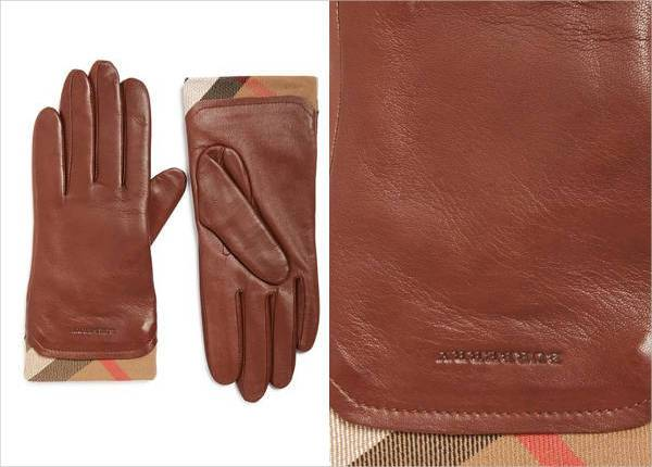 burberry jenny leather tech gloves